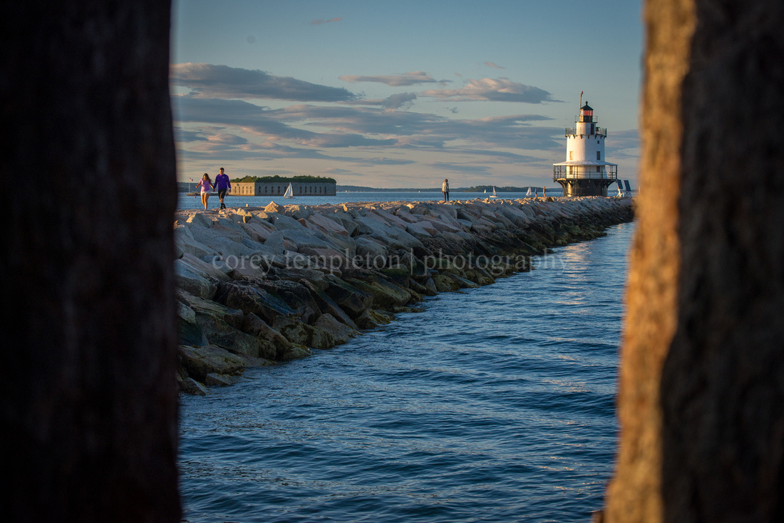 Spring Point Lighthouse from the Fort
