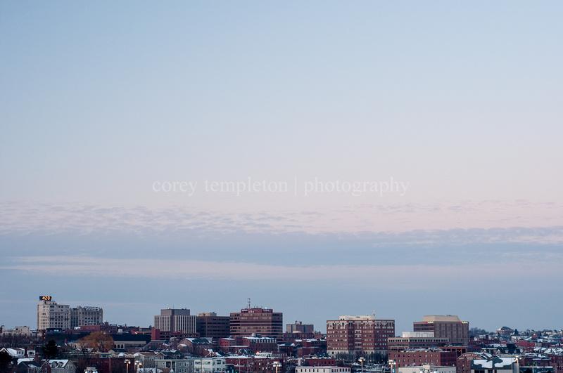 Portland Maine Winter Skyline January 2013 by Corey Templeton