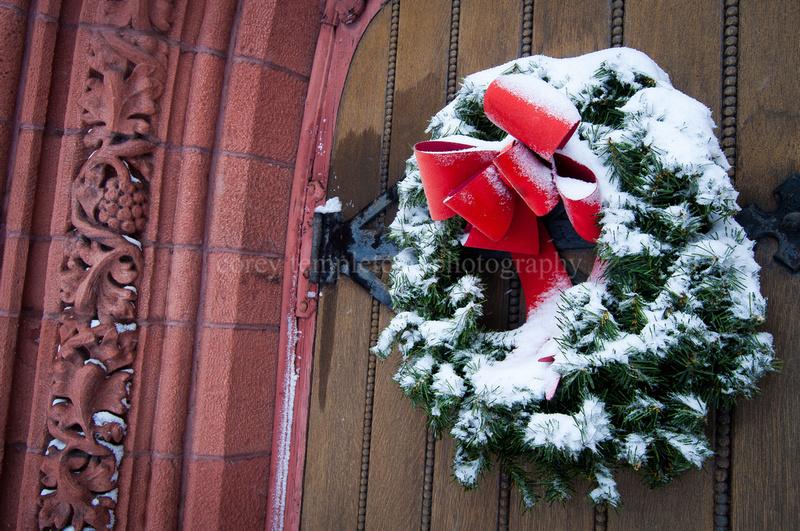 Portland Maine Christmas Wreath December State Street