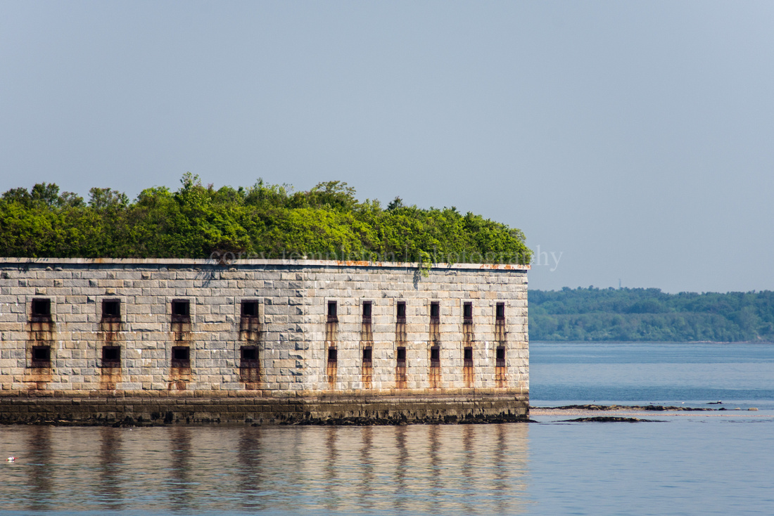 Fort Gorges in Casco Bay. Portland, Maine.