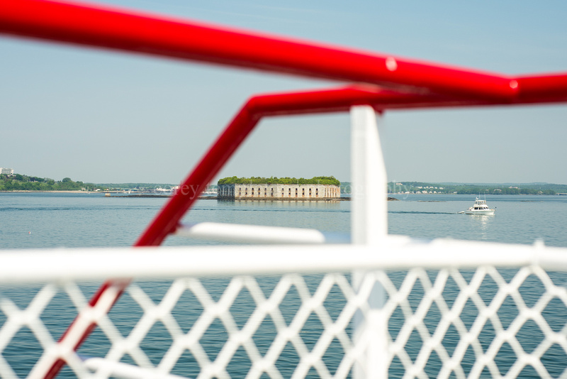Fort Gorges from a Casco Bay Lines Ferry. Portland, Maine. Summer 2013.