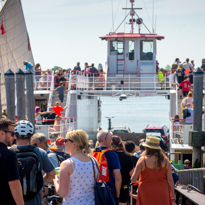 Boarding the Casco Bay Lines Ferry to Peaks Island