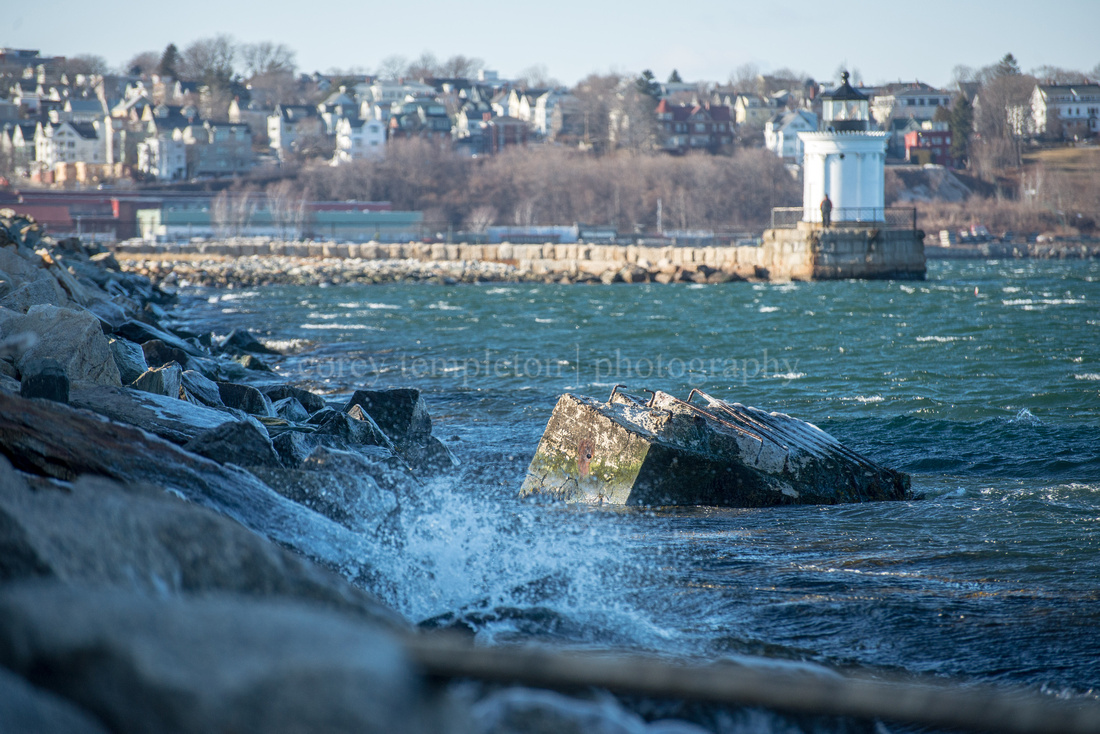 Cold & Choppy Water at Bug Light in South Portland