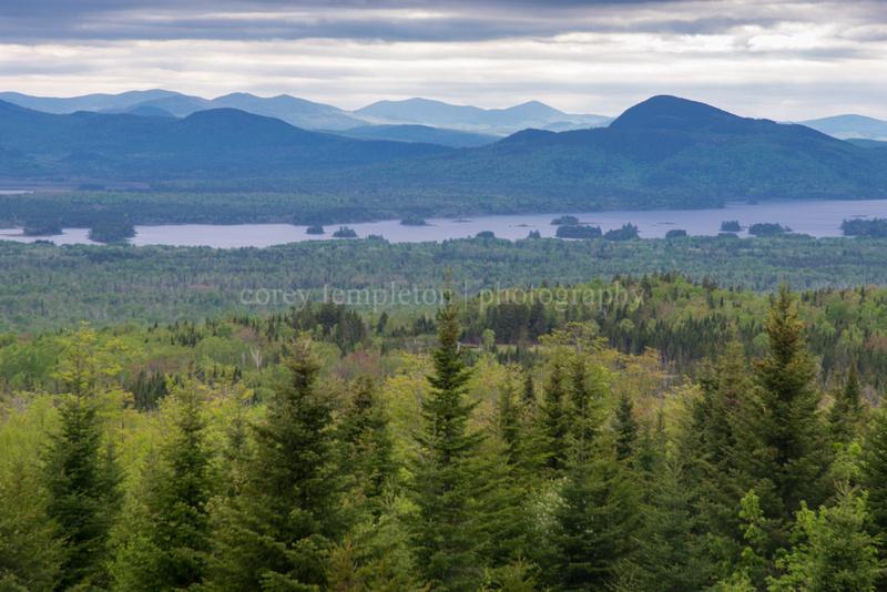 Scenic Overlook of Mountains Near Jackman, Maine