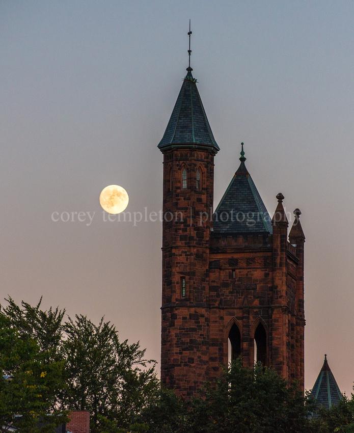 Harvest Moon over State Street
