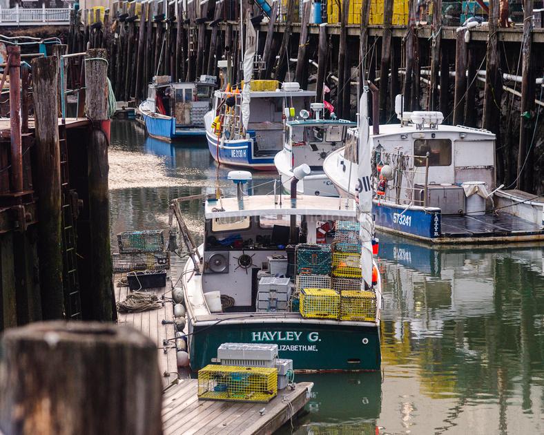 Lobster Boat Hayley G Docked in Portland