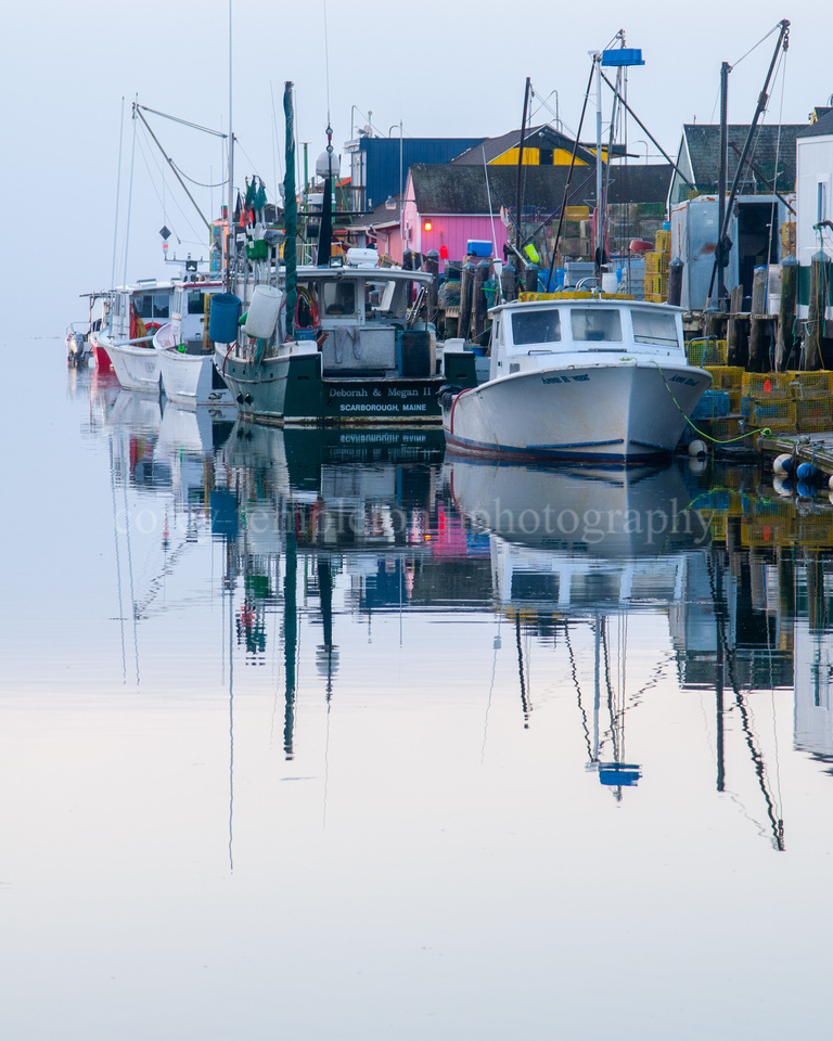 Boats at Widgery Wharf in the Morning, Portrait