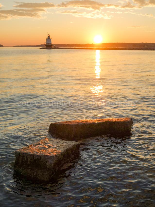 Morning Breaks at Spring Point Ledge Lighthouse