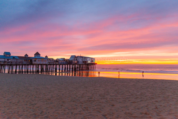 Old Orchard Beach Ocean Pier at Sunrise - Wide