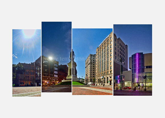 Monument Square Day & Night