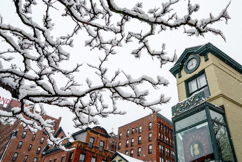 Winter in Congress Square