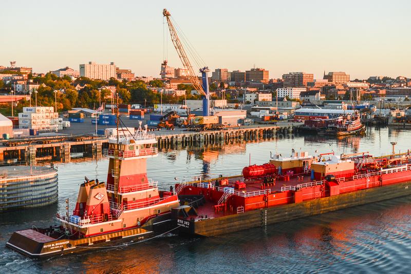 Skyline & Barge