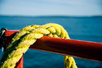 Yellow Rope on a Boat