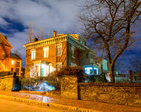 Carroll Mansion on Park Street at Night