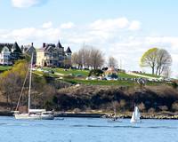 Fort Allen Park from Bug Light, Spring