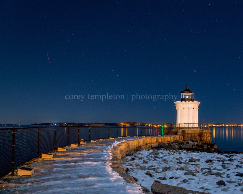 Winter Sky and Bug Light at Night
