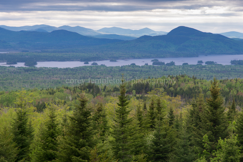 Scenic Overlook of Mountains Near Jackman, Maine