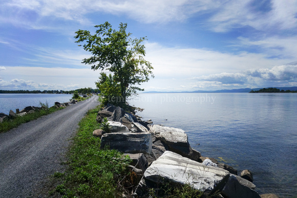 Lake Champlain from Island Line Trail in Vermont