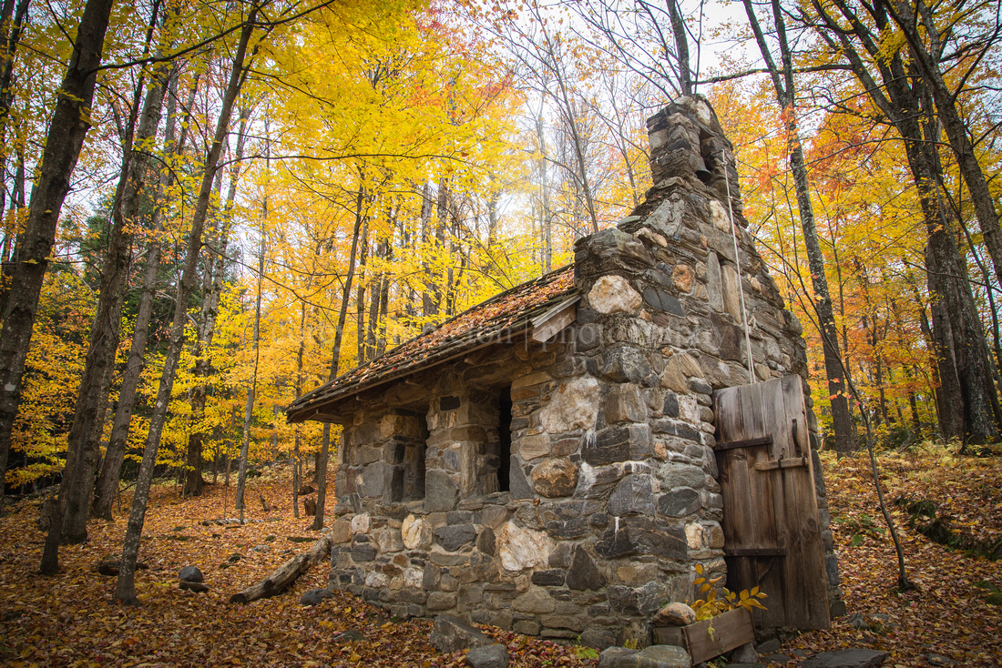 Trapp Family Chapel in Stowe, Vermont. Autumn.