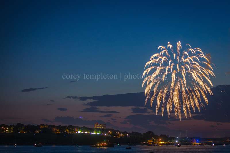 Fireworks from Fort Gorges