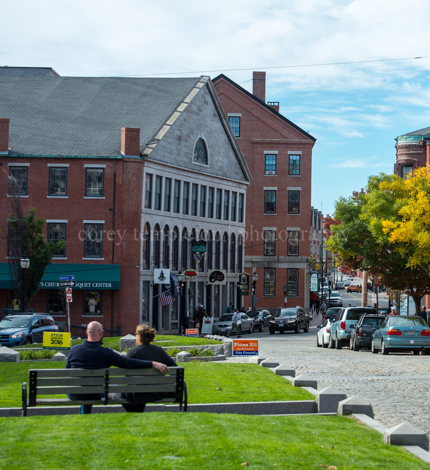Benches and Cobblestones in Boothby Square