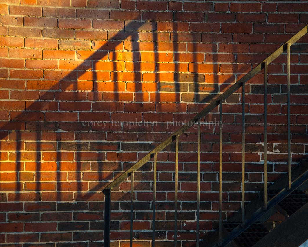 Stairs & Shadows on Washington Avenue