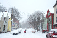 Snowy Madison Street in East Bayside