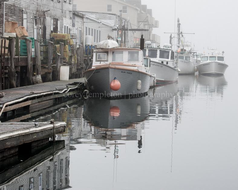 Foggy Morning, Custom House Wharf